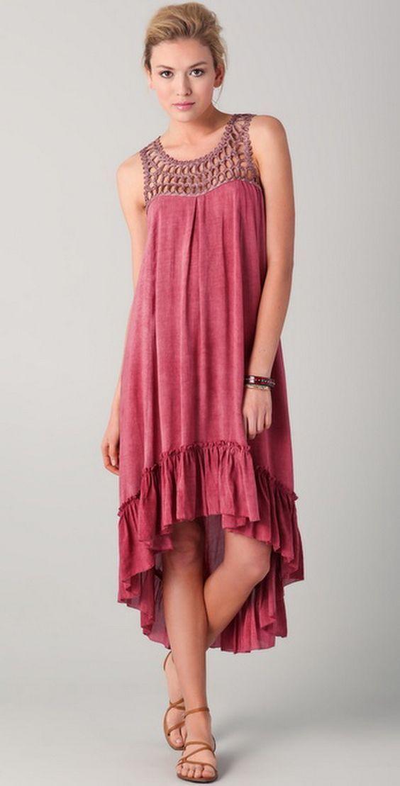 Bohemian Wedding Dresses | Bohemian-style-dresses_16: | Вязание ...