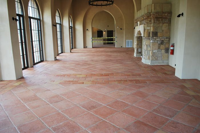 Tile Floor Rustic Italian Look