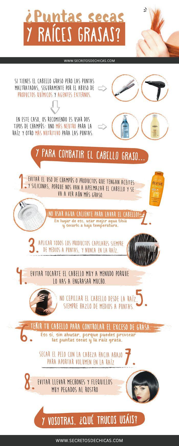 Puntas Secas Y Raíces Grasas Secretos De Chicas By Patry Jordan Tips Belleza Trucos De Belleza Cuidados Para El Cabello