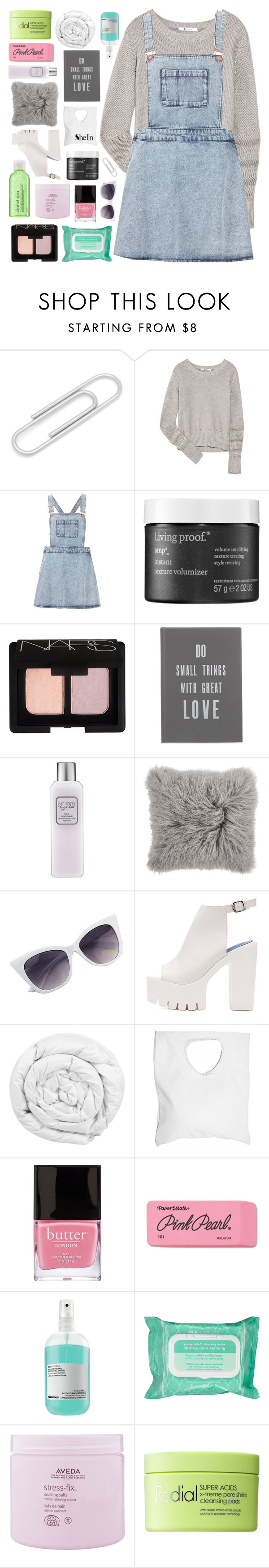"""""""HAVE ME CRYSTALISED"""" by elainesabine ❤ liked on Polyvore featuring T By Alexander Wang, Topshop, Living Proof, NARS Cosmetics, The White Company, Laura Mercier, Brinkhaus, Jennifer Haley, Butter London and Paper Mate"""