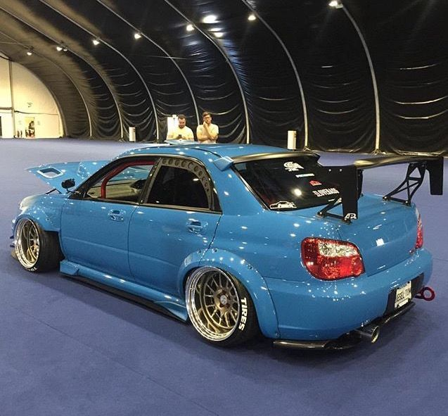 #Subaru #Impreza #WRX #STi #Modified #WideBodyFlares #Slammed #Stance Design
