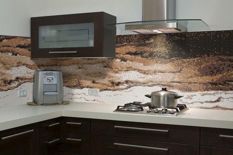 Piastrelle Cucina Con Mosaico.Insolita Cucina Con Piastrelle Mosaico Spazio Cucina Nel
