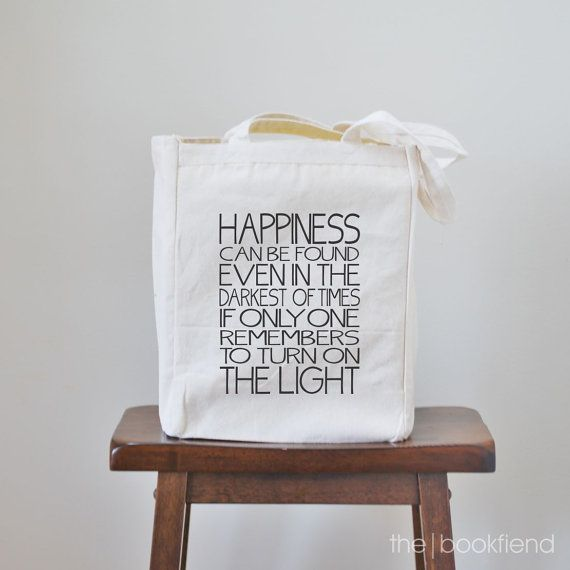happiness can be found even in the darkest of times canvas book tote bag