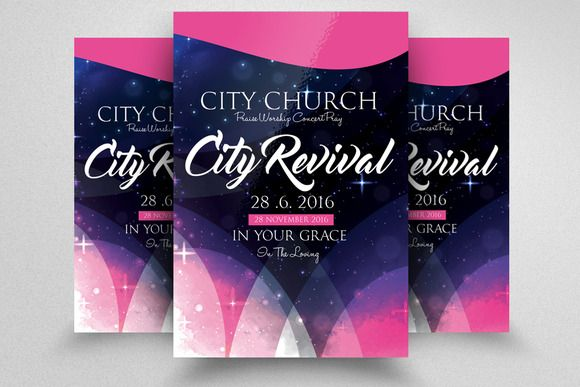 The City Revival Church Flyer Business Flyers Photoshop Cs5 And