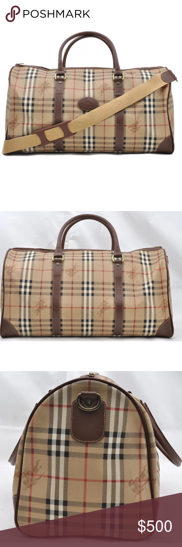 5af1df923ffc Authentic Burberry travel bag  Weekender bag Travel in style with this  great discontinued