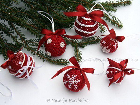 Weihnachtskugeln - 3 Großen und 6 Designs - Häkelanleitung | häkeln ...