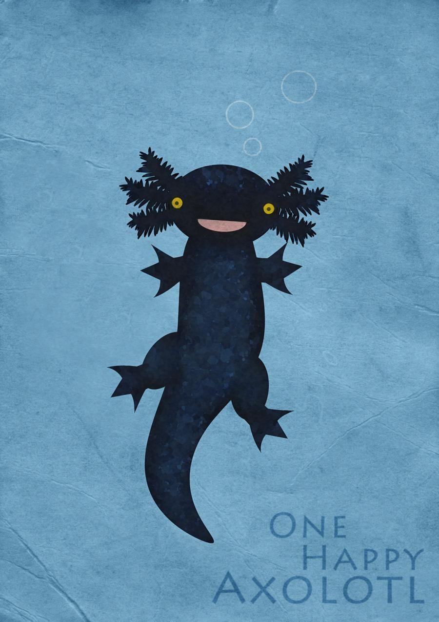 One Happy Axolotl by weeredfrog on DeviantArt in 2020