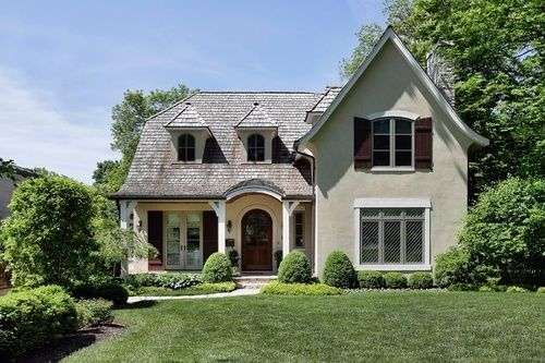 French Country in stucco.