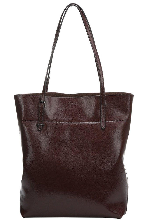 d66a30f57fe8 Obosoyo Women s Handbag Genuine Leather Tote Shoulder Bags Soft Hot ...