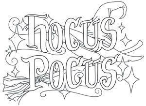 Hocus Pocus Coloring Pages Fabulous Hocus Pocus Coloring Pages ...