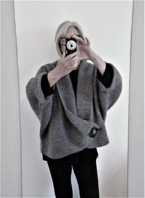 Aran Garter Stitch Shawl Collar Knitting Pattern In 2018 Knit N