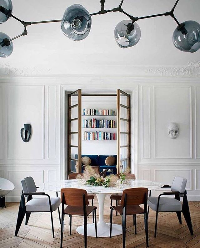 Wowowow Knoll Saarinen Table Prouv 233 Chairs By Vitra And