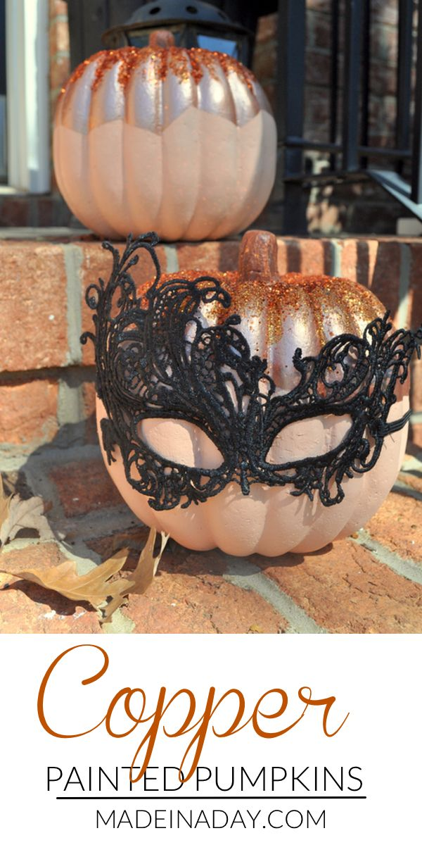 Copper Painted Pumpkins for Fall Decor Holidays, Halloween ideas - halloween decor images