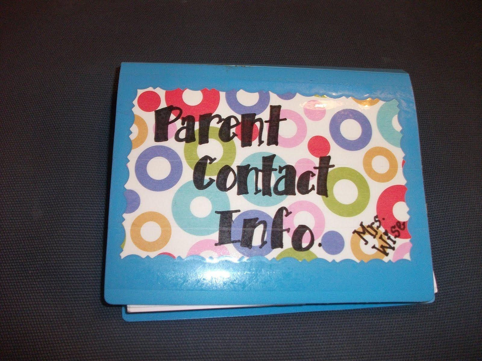 Idea for Parent Contact Info