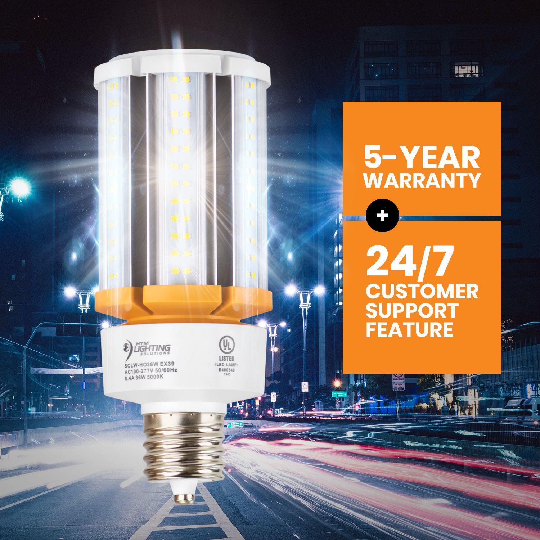 36w Led Corn Light Bulb 150w 200w Metal Halide Equal 5 400 Lumen 150lm W Ex39 Mogul Base Area Lights Bulb Led