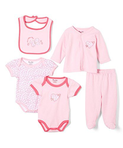 Sweet Soft Baby Girls 5 Piece Cardigan Gift Set 36 Months Pink