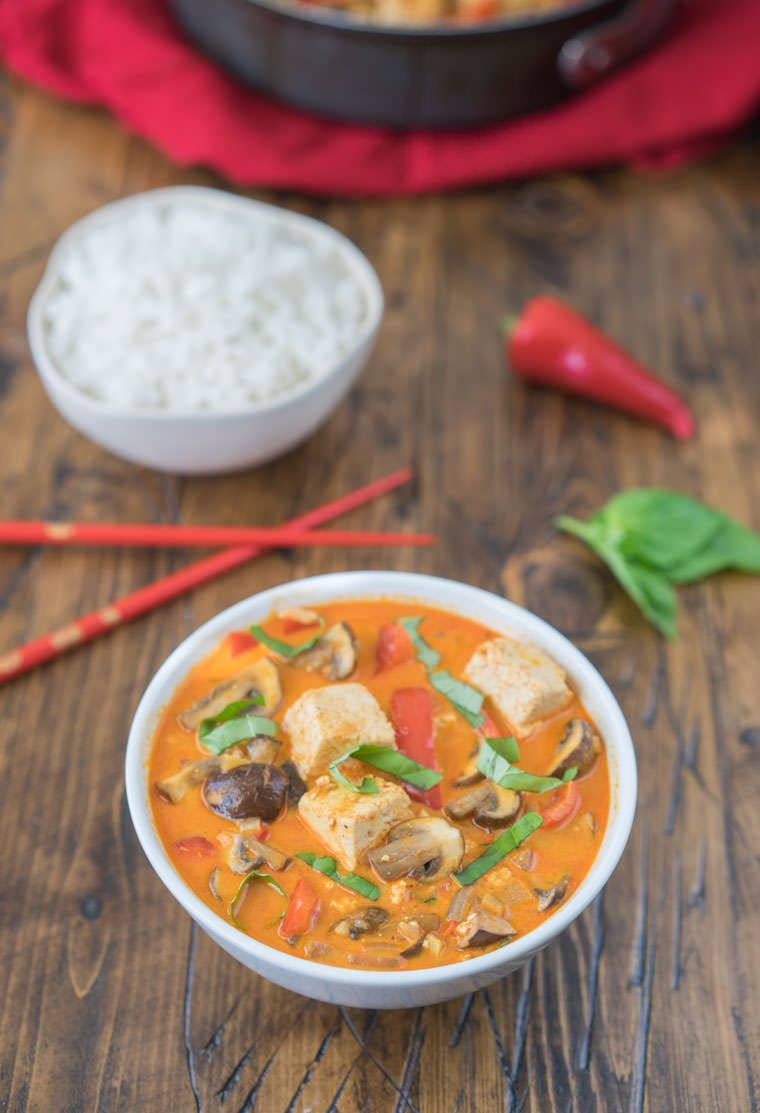 Red Thai Curry Recipe With Tofu Recipe Curry Recipes Thai Curry Recipes Food