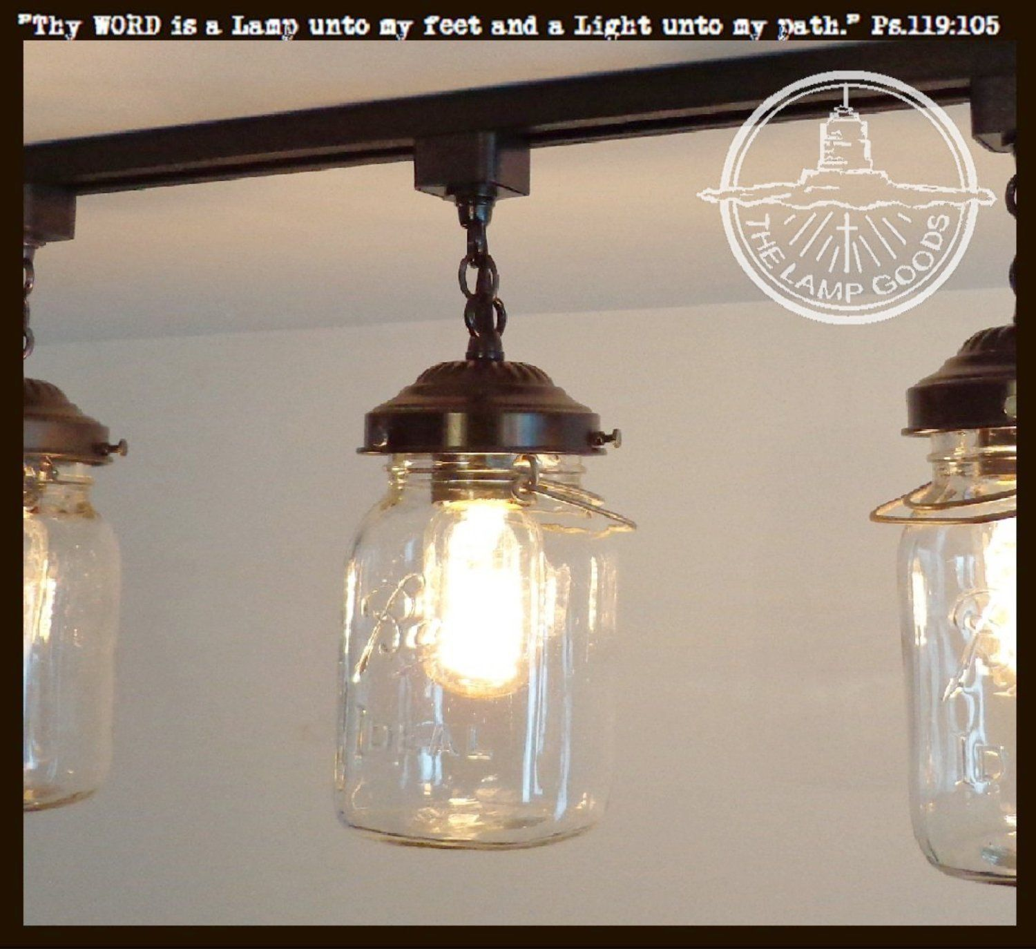 Mason jar track light single vintage quart aloadofball Gallery