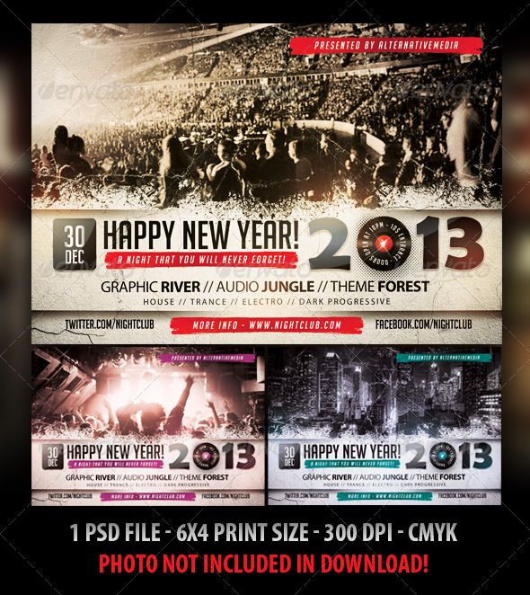New Year Party   Concert Flyer Concert flyer, Flyer template and - concert flyer