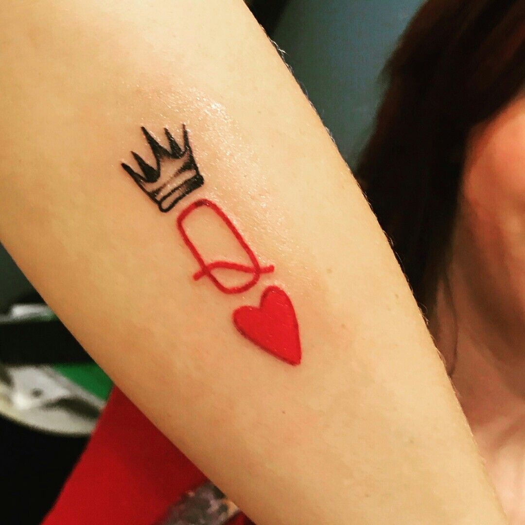 The Queen Of Hearts Tattoo 👑💗