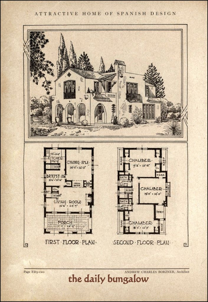 Andrew Charles Borzner 1928 Beautiful Homes Colonial House Plans How To Plan Spanish Design