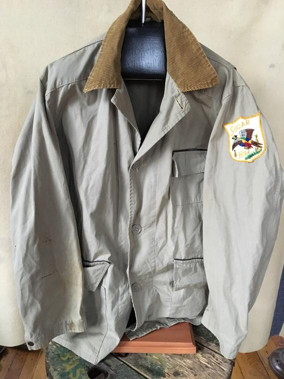 3952efd57de22 Vintage Duxbak Utica New York canvas hunting jacket USA 44 in 2019 ...