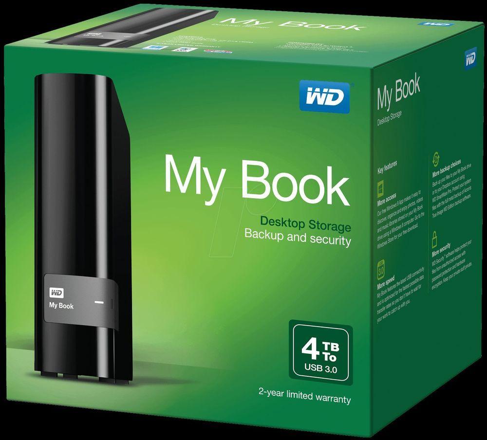 Western Digital My Book Wd 4tb Hdd External Hard Drive Usb 3 0 Cool Things To Buy External Hard Drive Hard Drive