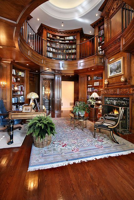 Gentleman's Study | Luxury Home Office Interior Design | Aesthetic on luxury villa entrance design, luxury home library, luxury ceo office design, rough hollow lakeway study,