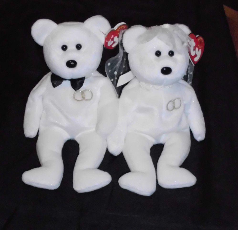 c6895b58ffa Rare Retired Collectible TY Mr.   Mrs. Beanie Babies Bride Groom Bears  Ty