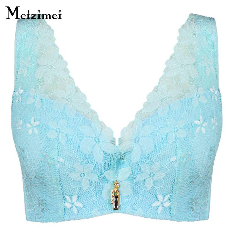 406202611b655 Meizimei new Brand sexy lingerie big size Women Bras push up lace underwear  plus size brassiere