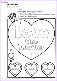 Love One Another John 13 34 Kids Korner Biblewise Sunday