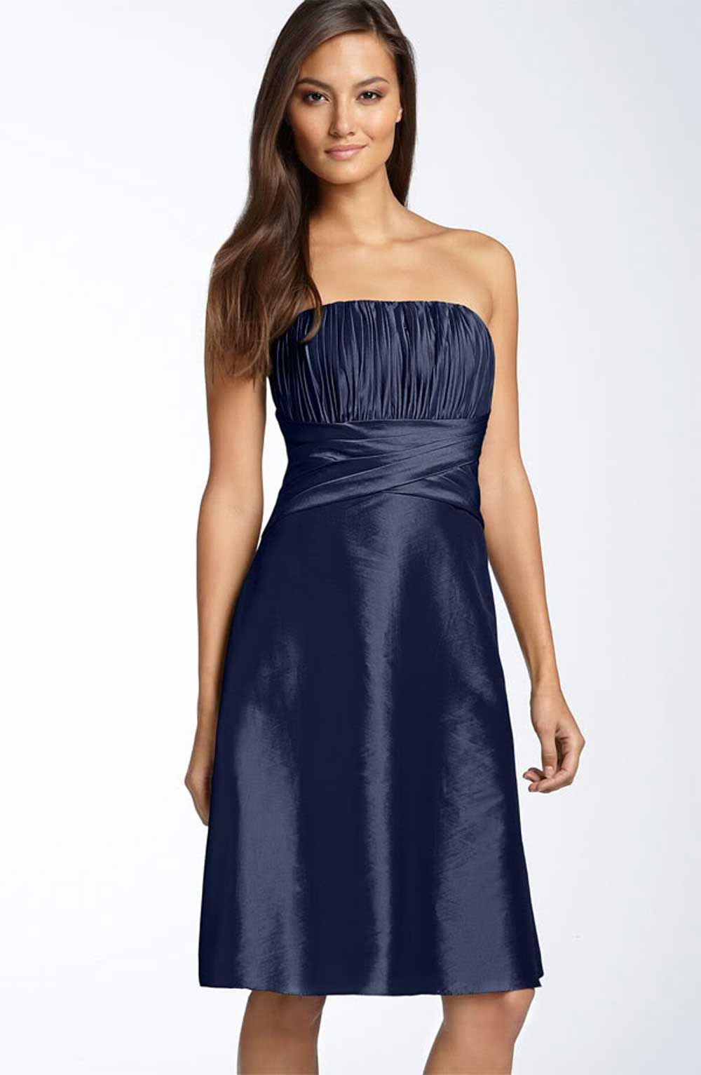 Tafetta Navy Blue Party Dress For Engagement | Party Dresses ...