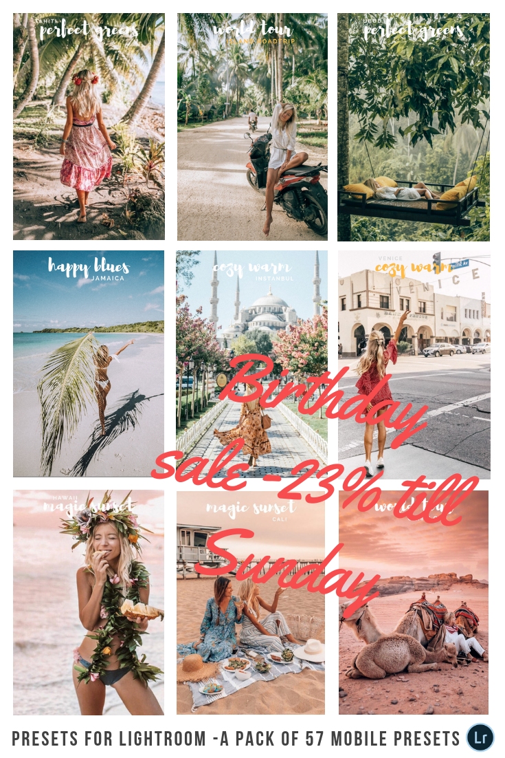 CODE: BDAY Best Instagram filters / presets  Available to