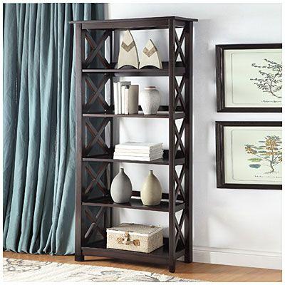 72 espresso open back 5 shelf bookcase at big lots - Big Lots Bookshelves