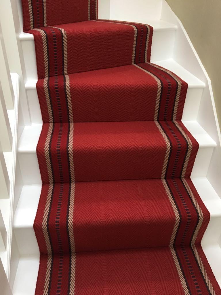 Best Roger Oates Hampton Madder Herringbone Stair Carpet 640 x 480