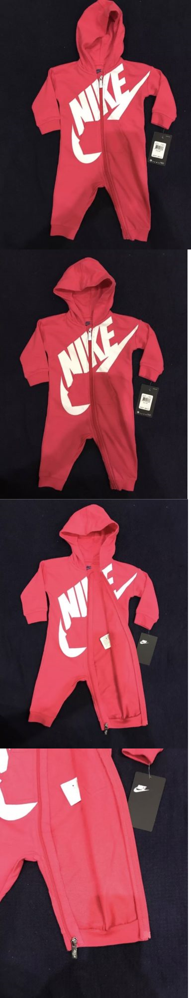 One-Pieces 57847: Nike Baby Girls Futura Coveralls Bodysuit Romper Sz 6 9  Months