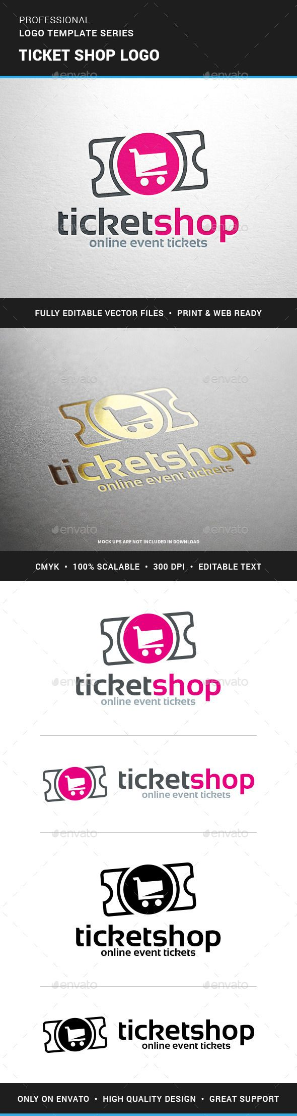 Ticket Shop Logo Template Shop Logo Logo Templates And Logos