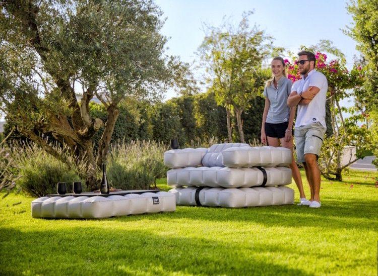 Aufblasbare Moebel Garten Otdoor Modern Rasen Sessel