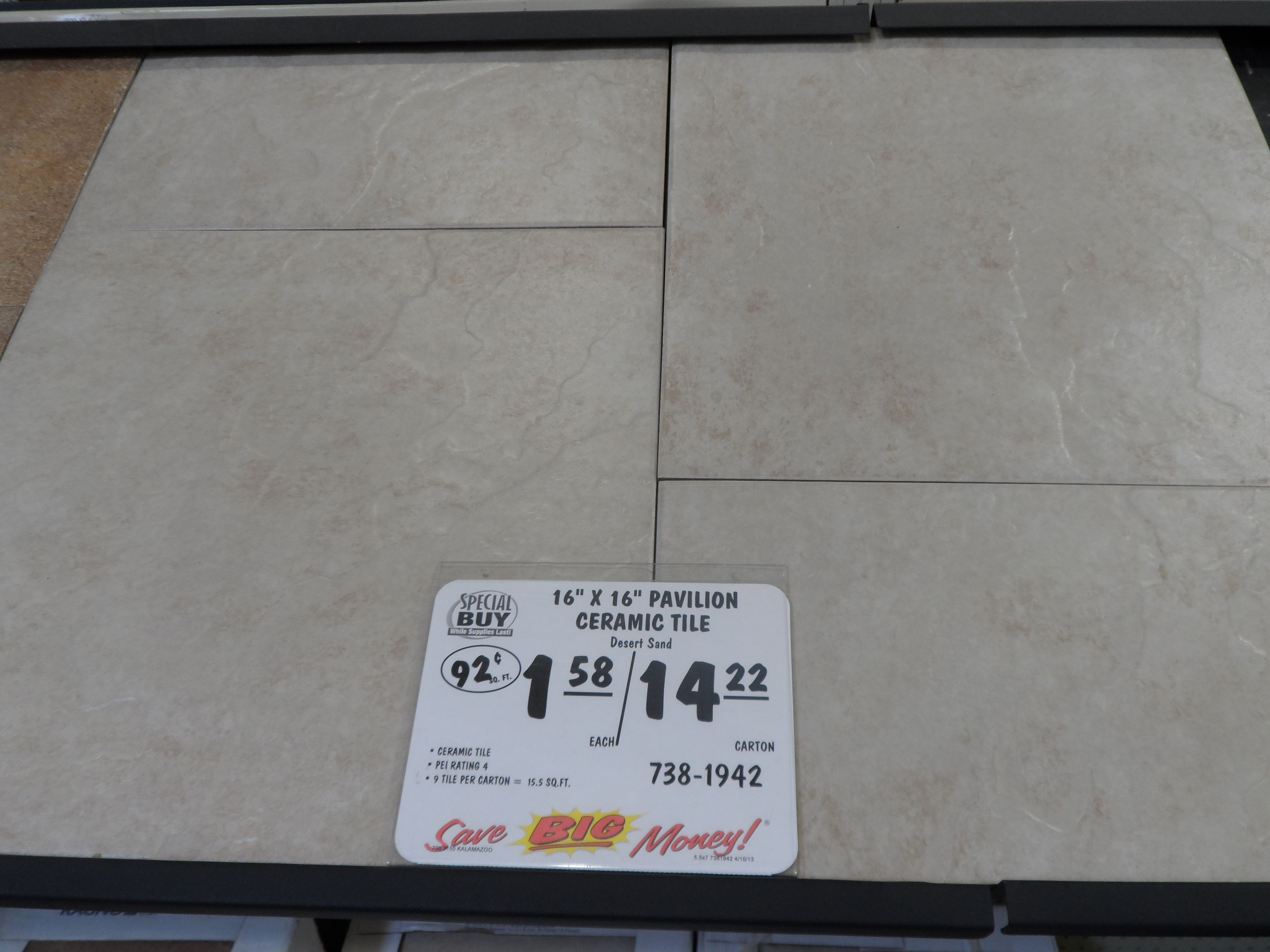 Love The Big Tile Look Ceramic Tiles Carton Ceramics
