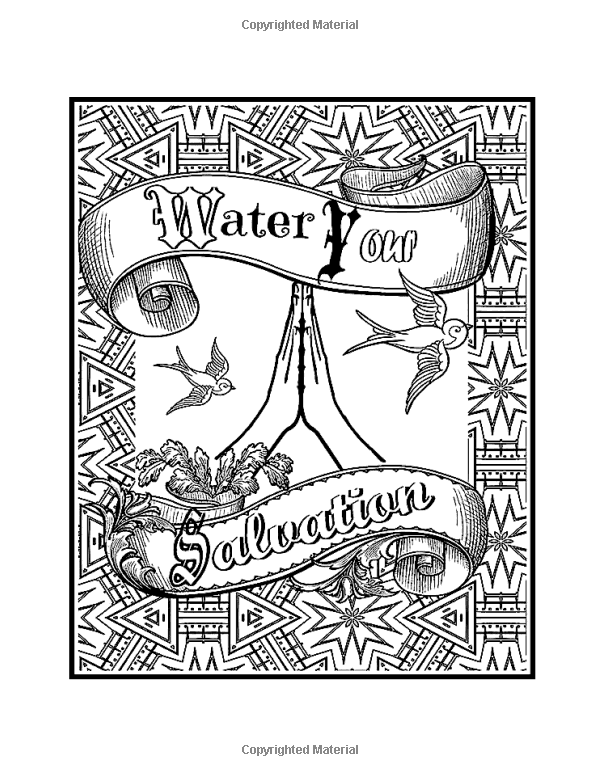 Amazon Words From Gods Garden Spiritual Coloring Book For Adults