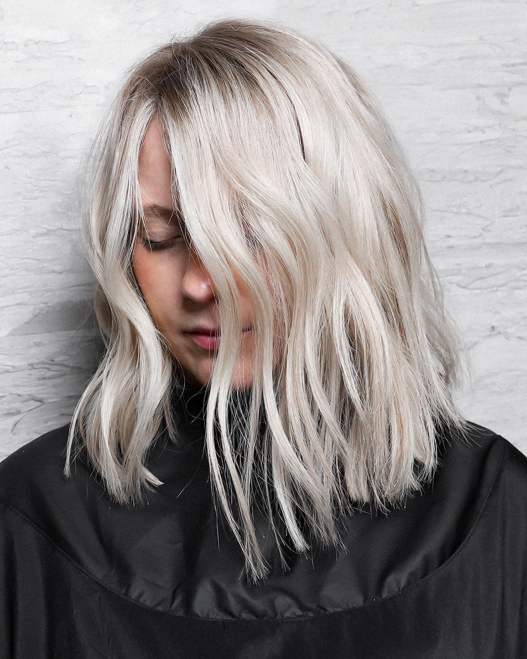The Perfect Platinum Blonde With Subtle Shadow Root By Balayagedbybelle Dark Roots Blonde Hair Short Platinum Blonde Hair Blonde Hair With Roots