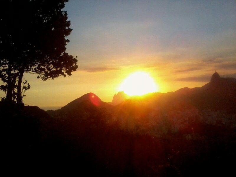 Por-do-sol Morro da Urca
