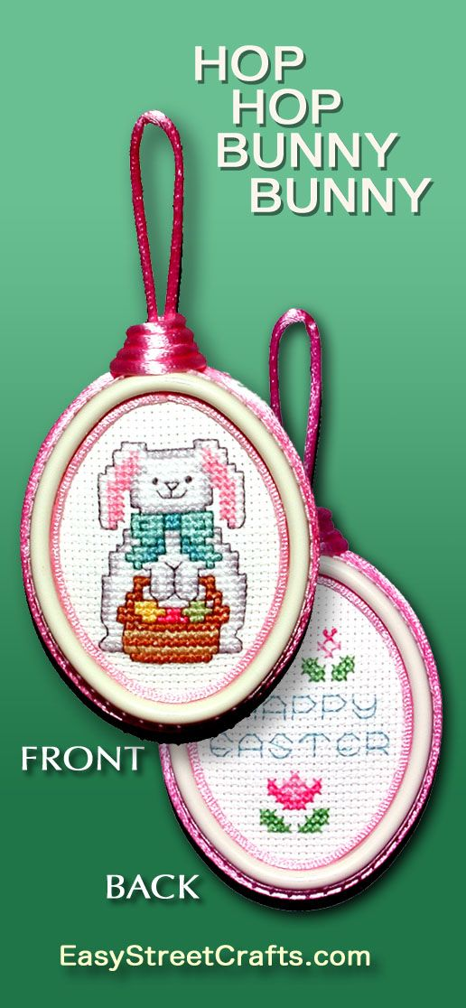 Perfect to give as a small Easter gift. Stitch, then frame this ...