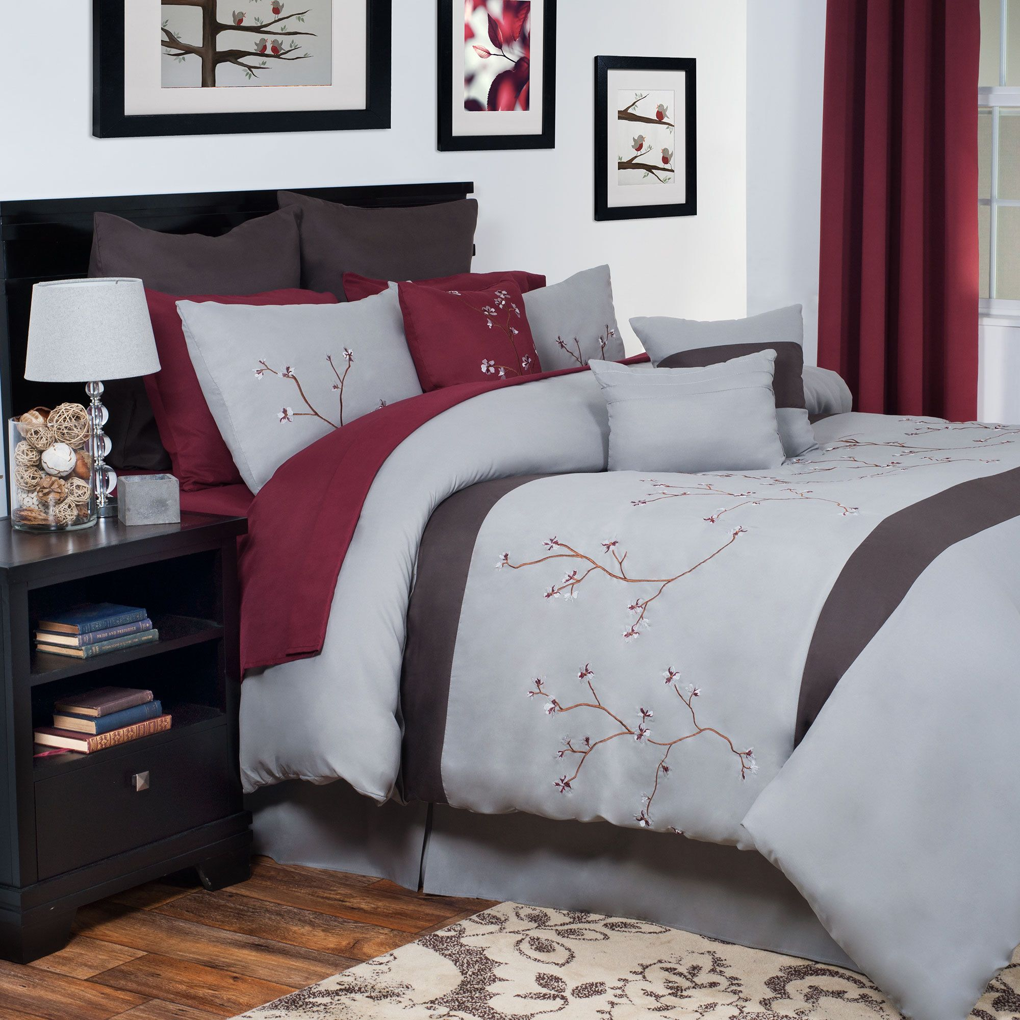 PurpleRed Comforter Sets Free Shipping on orders