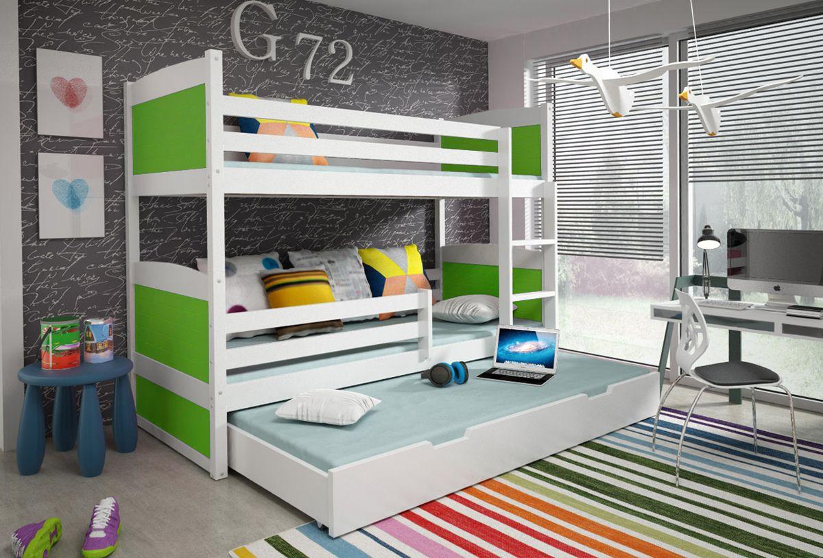 Dreier Etagenbett Kaufen : Dreier u etagenbett nico kinder weiß etagen und