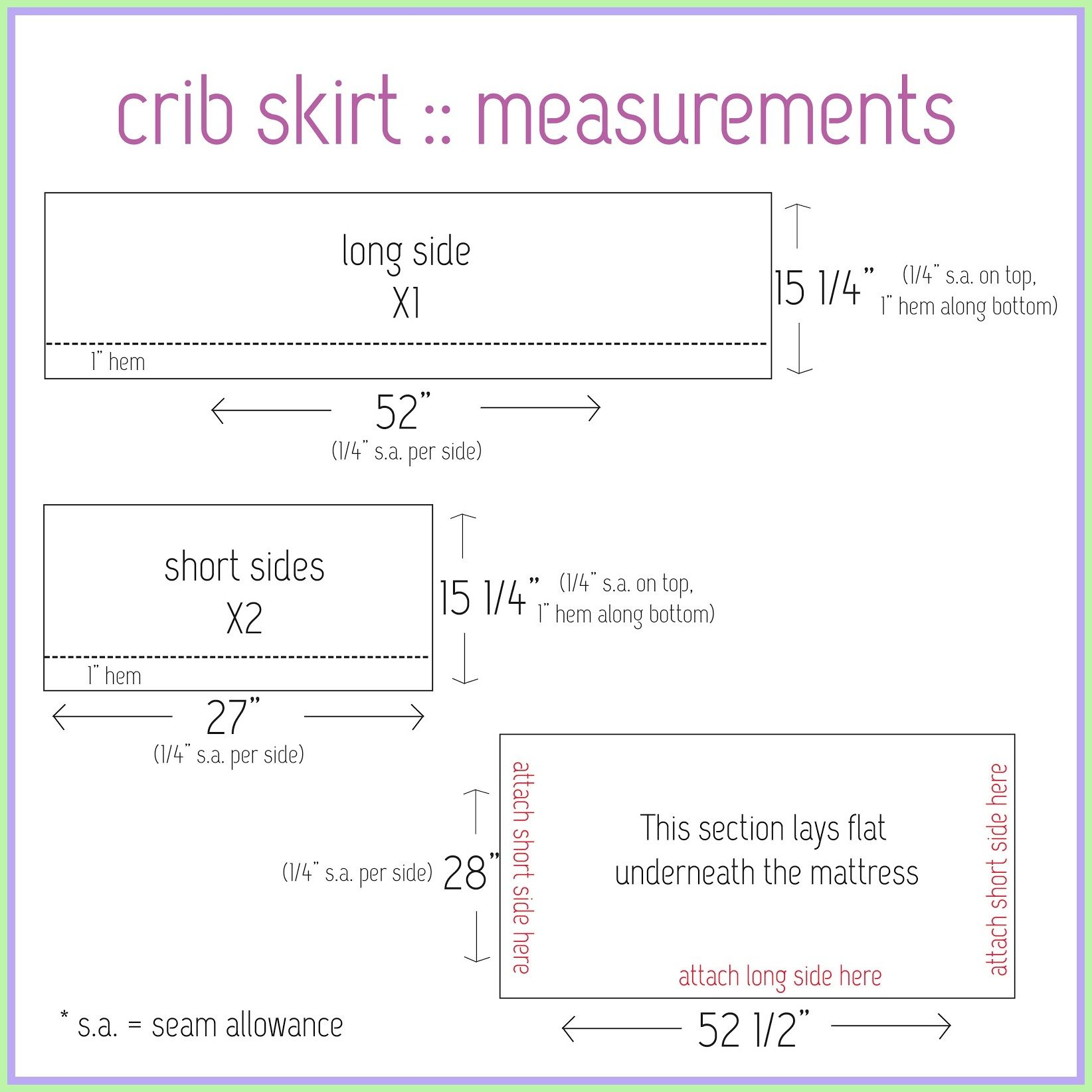 123 Reference Of Crib Mattress Sizes Chart In 2020 Crib Bed Skirt Baby Crib Skirts Baby Cribs