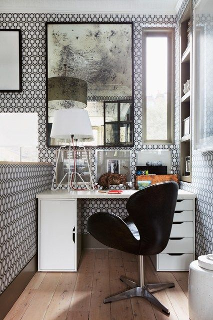 Bunny Turner\'s Tiny Workspace | Small spaces, Graphic wallpaper and ...