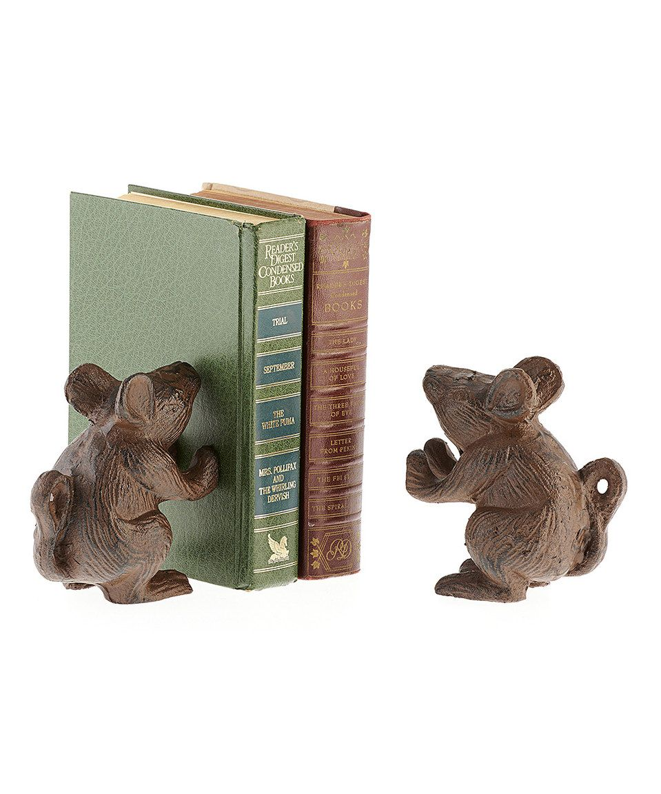 Look at this #zulilyfind! Mouse Bookend - Set of Two by Giftcraft #zulilyfinds