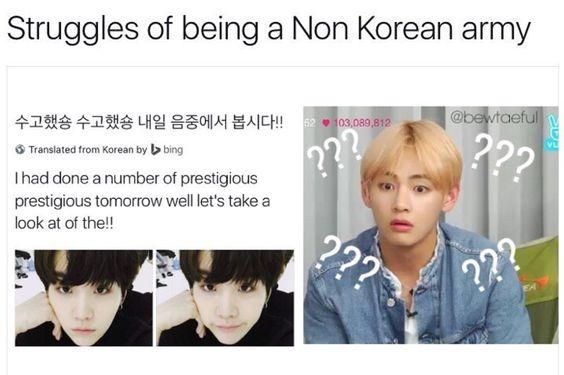I Know One Word In Korean And That S Love But I Can T Even Spell That Bts Memes Bts Funny Kpop Memes