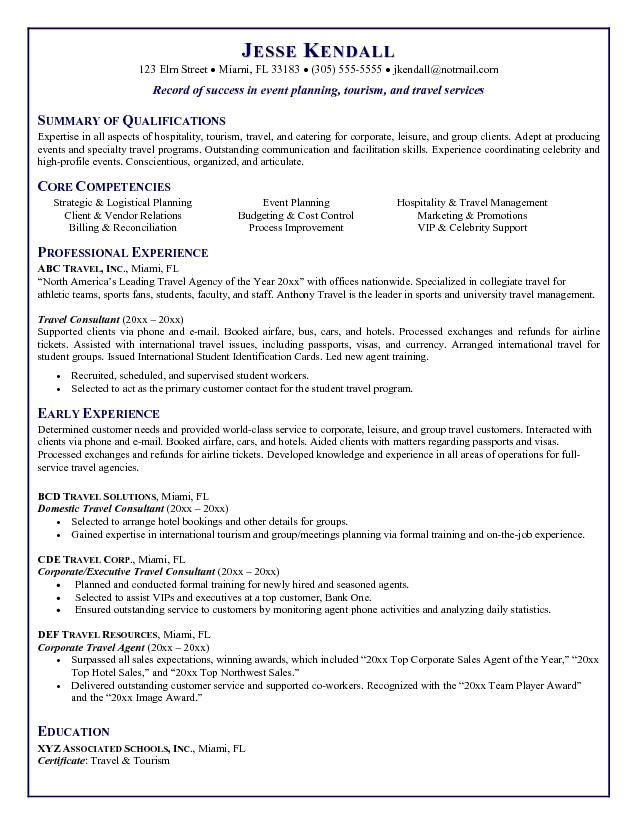 Travel Agent Resume Sample travel agent resume sample awesome